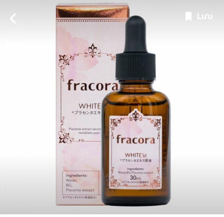Dùng Serum Fracora White'st Placenta có trắng da được không ạ, ai dùng rồi cho e xin review với?