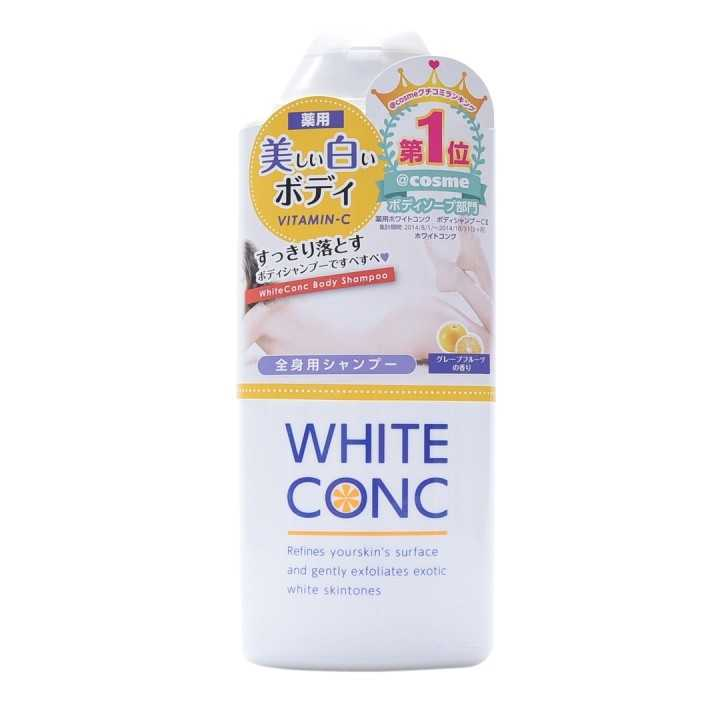 Đã bạn nào dùng sữa tắm White ConC của Nhật chưa, cho em xin ít review về độ trắng da của em nó với ?
